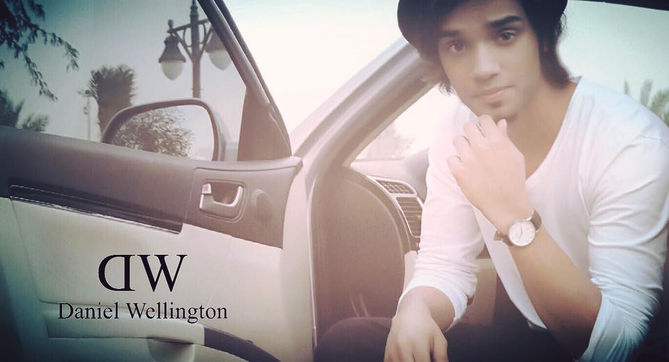 Model: Aleem Zafar, Brand: Daniel Wellington